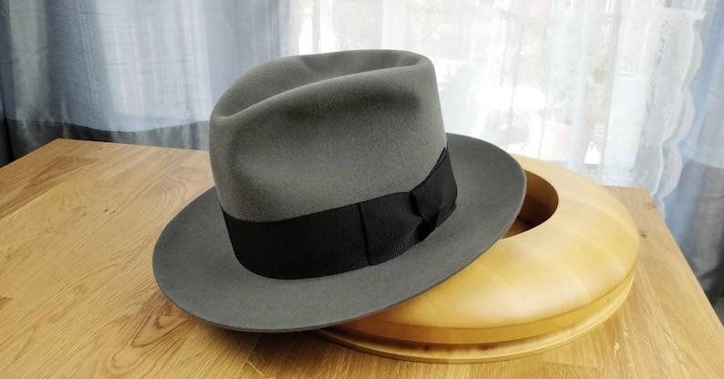 07c43c4d1720b6 RAGNAR FEDORA by HUFVUD Custom made hat Custom Leather | Etsy