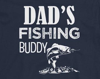 Dad's Fishing Buddy Funny Sons Fisherman Dad Shirt Youth Short Sleeve T-Shirt