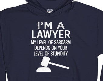 I'm a Lawyer Funny saying Hoodie - Mens Womens Attorney Hooded Sweatshirt