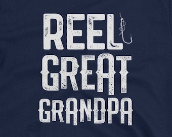 baa51a224 Reel Great Grandpa shirt Funny Fishing Fisherman Mens Short-Sleeve Unisex T- Shirt