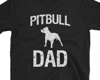 8d2fc04f Proud Pitbull Dad men's pit bull Dog Short-Sleeve Unisex T-Shirt