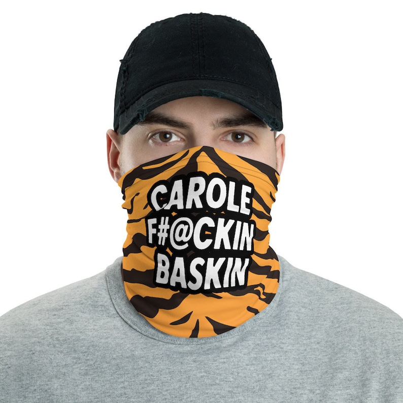 Carole Baskin Funny Facemask Tiger King Inspired Neck Gaiter image 0