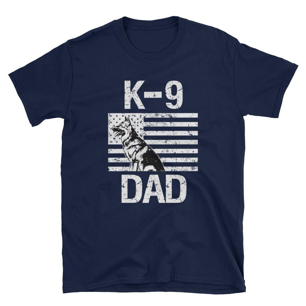 Papa K-9 GSD papa manches T-Shirt courtes T-Shirt manches unisexe 0098c4