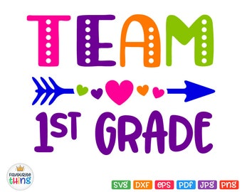 1st grade svg   Etsy