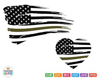 Military Svg Distressed Flag Svg US Grunge Army Hero Heart Svg American Flag Svg Forces Design Cricut Files Silhouette Dxf Png Pdf Jpg Eps
