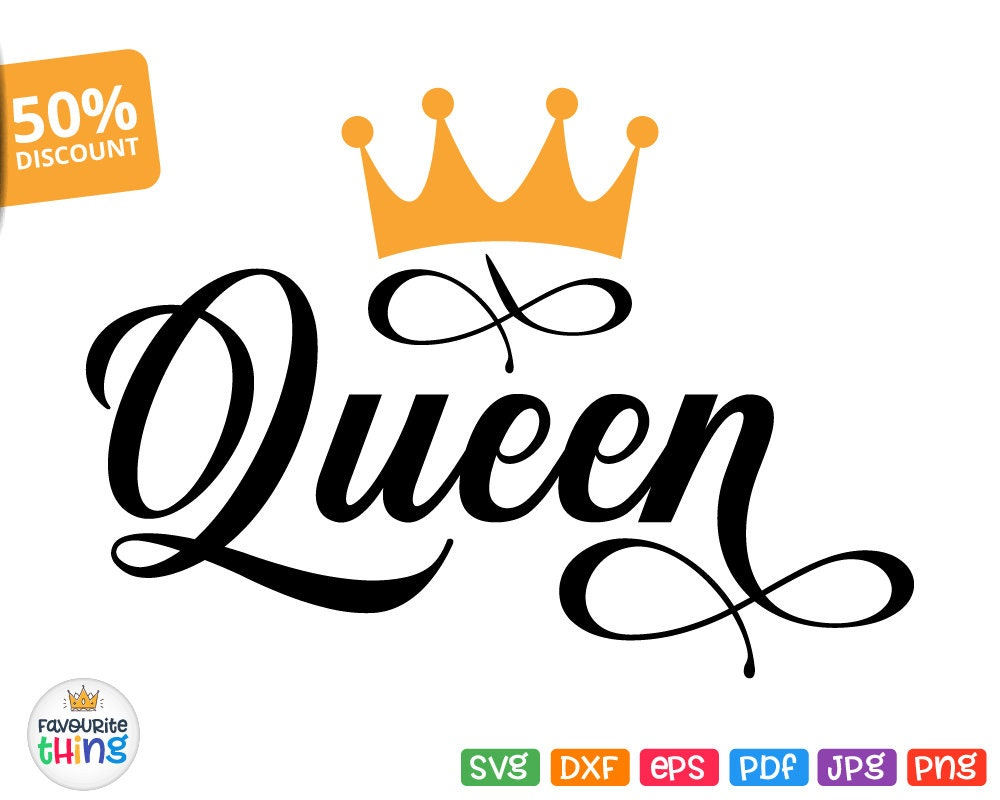 Her King Svg His Queen Svg King And Queen Svg Svg Design: Queen Svg Mommy Queen Svg Cut File Mom Quote Image For