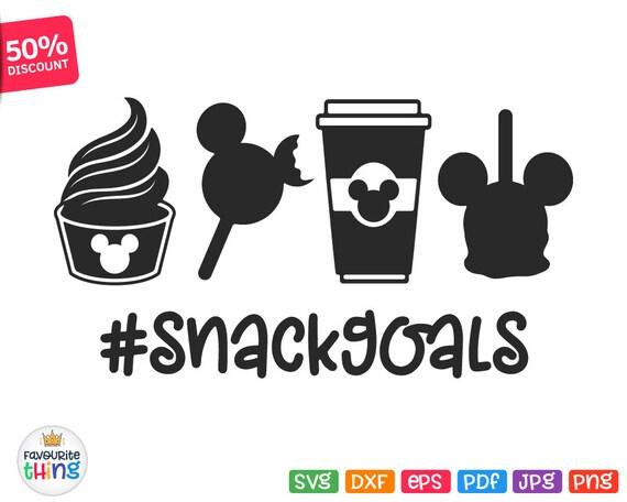 Snack Goals SVG Disney SVG Snack Goals Iron On Snack Goals ...