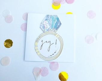 Yay engament card handmade