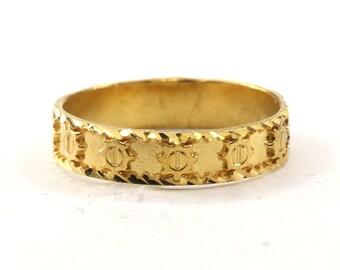 Forever22karat 22k Elegant Unique Men Exquisite Ring 22k Plated R2047w