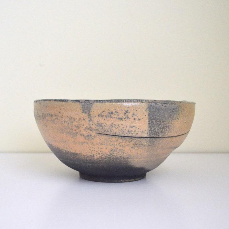 Handmade Ceramic Vessel George Roby Small Black and Smoky Grey Bowl Mid Century Modern Pottery
