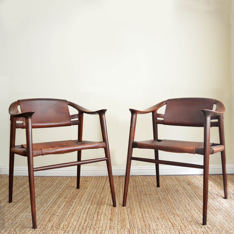 Marvelous Pair Of Leather Bambi Chairs By Rolf Rastad Adolf Relling For Gustav Bahus Norwegian Design Accent Chair Mid Century Modern Pabps2019 Chair Design Images Pabps2019Com