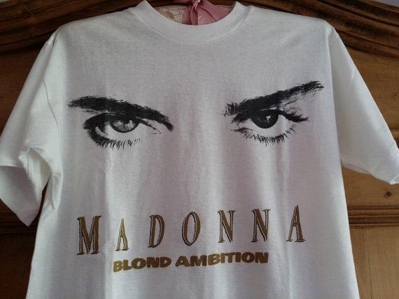 1990 Madonna Blond Ambition Tour T-shirt