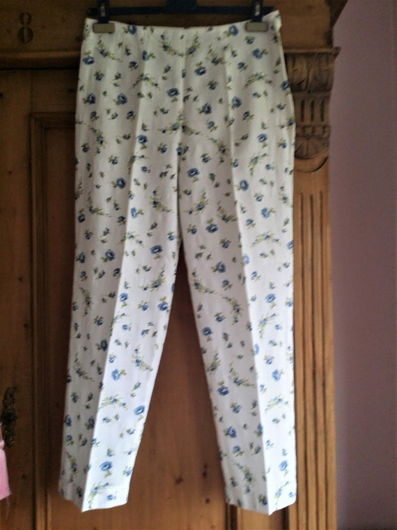 1940s printed cotton trousers