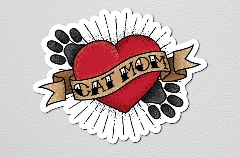 02103dae6 Cat Mom Magnet Cat Lady Refrigerator Magnet Cat Lover   Etsy