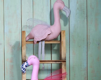 Pillow toy Decorative pillow Pillow flamingo Handmade flamingo Pink flamingo Baby a toy Kids a toy Soft toy Baby gift Kids interior Toy