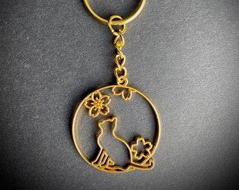 Luna Cat KEYRING Preserved Flower Bookmark Keyring AirPods keychain keychain
