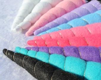 Felt unicorn hairband in enchanting colors & two sizes