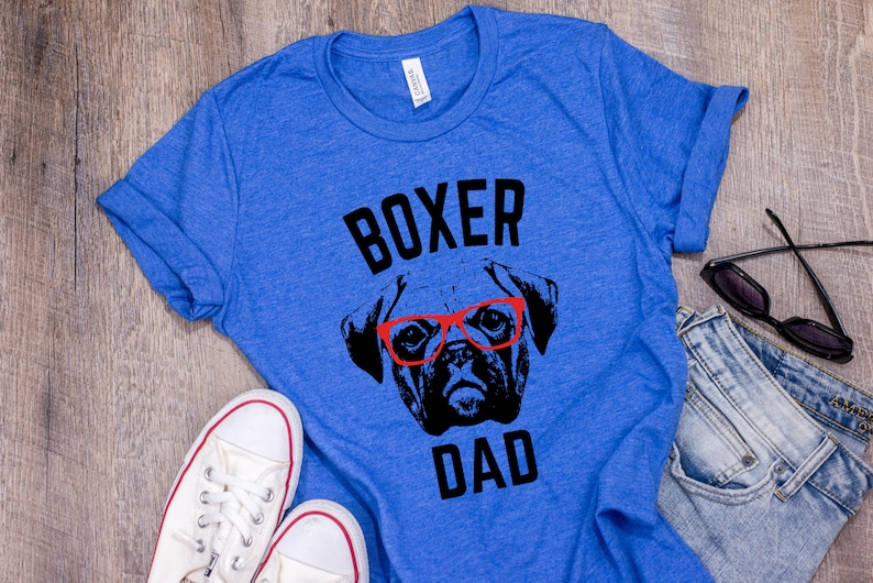a4a0fa4b9 Boxer Dog T Shirt Boxer Dad Boxer Shirt For Men Gift For | Etsy