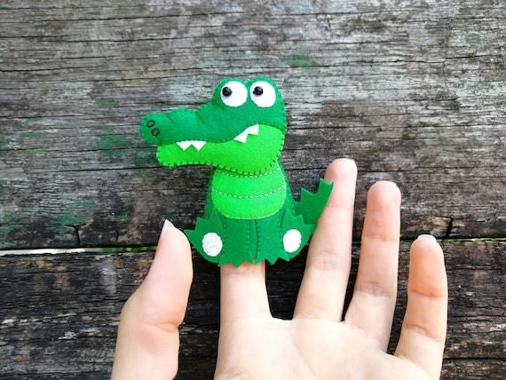Alligator Marionette Wooden Puppet Pets