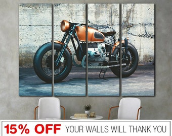 BMW R80 Motorcycle Bike 3.2 Wall Art Canvas Picture Print