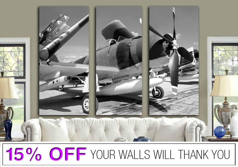 Fighter canvas Canvas Airplane Airplane Folded Wings Canvas Engine Propeller Plane Canvas Aircraft Canvas Aviation Wall Art Turbine