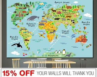 World map nursery etsy gumiabroncs Image collections