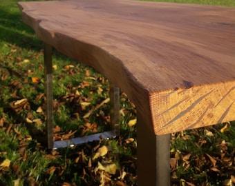 Live edge Oak epoxy resin Dining table