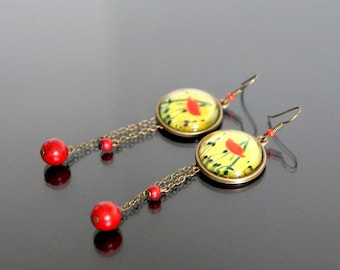 Poppy earrings.