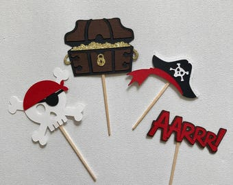 Pirate Cupcake Toppers - set of 12