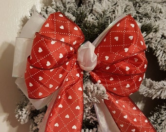 Tree Topper Bow, Valentines Bow, Wreath Bow, Large Gift Bow,  Fabric Bow, Pew Bow, Chair Bow, Bow Decoration, Wedding Bow