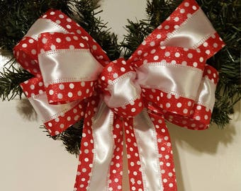 Christmas Bow, Tree Topper Bow, Wreath Bow, Large Gift Bow, Wedding Bow, Pew Bow, Chair Bow, Bow  Decoration