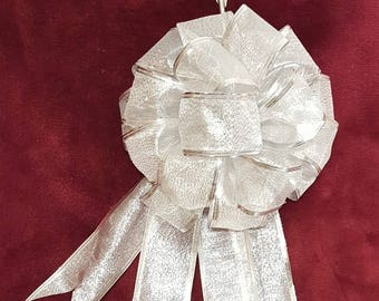 Large Gift Bow, Valentines Bow, Wedding Bow, Christmas Bow, Tree Topper Bow, Wreath Bow, Large Gift Bow, Pew Bow, Chair Bow, Bow  Decoration