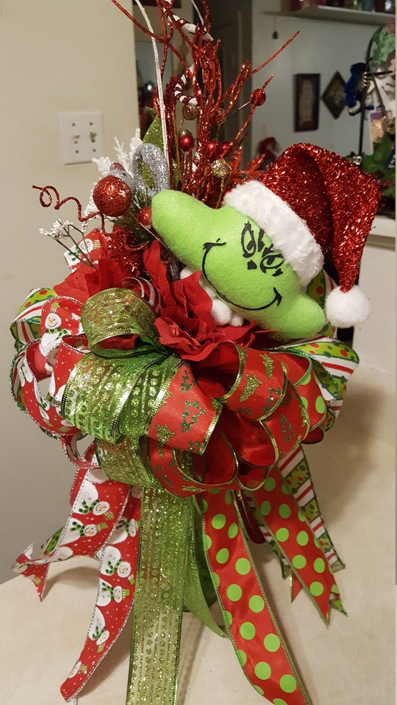 - Grinch Tree Topper/Christmas Tree Topper/Deluxe Grinch Etsy