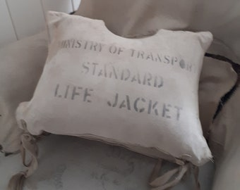 RARE antique vintage life jacket old 1900 1900s 1920 1920s shabby