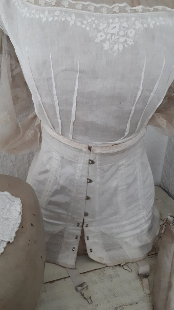 antique victorian edwardian french white old corse