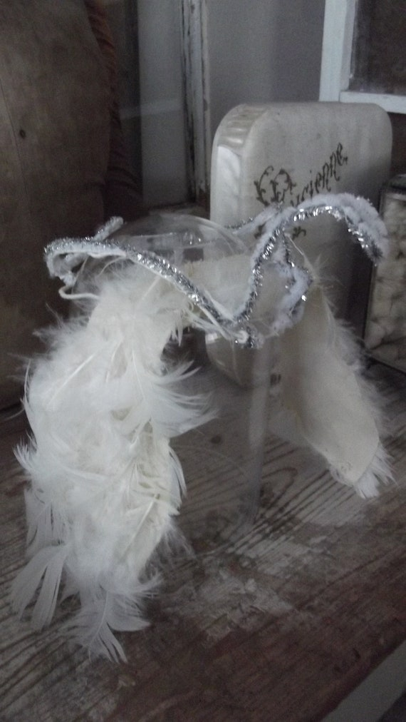 vintage ballet crown feathers tinsel 1950 1950's t