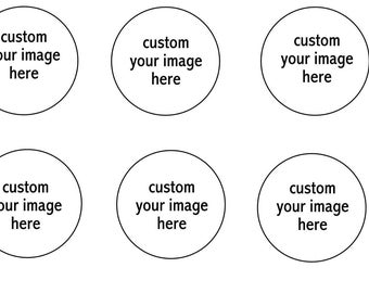 Custom Your Personal Image Edible Cupcake Topper Frosting Icing Sheet 2 Circles