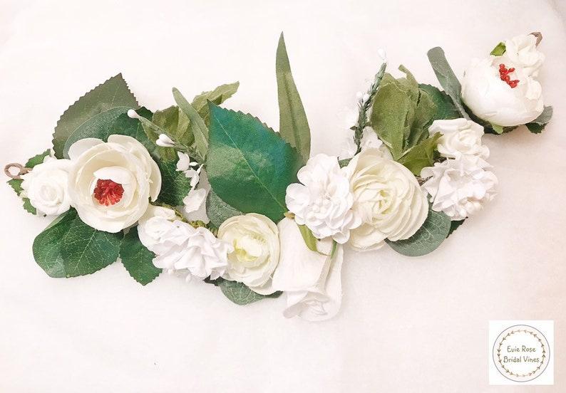 White  Rose Floral Wedding Dog Collar Wedding Dog Canine image 0