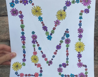 Floral Block Letter