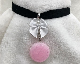 L - Pink Macaroon Choker