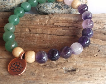 Mala Bracelet, Mala, Bracelet, Yoga Bracelet, Amethyst, Chakra Bracelet, Meditation Bracelet