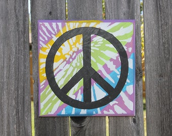 Tie-Dyed Peace Sign