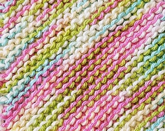 Handmade Knitted Dishcloth - Lava Lamp