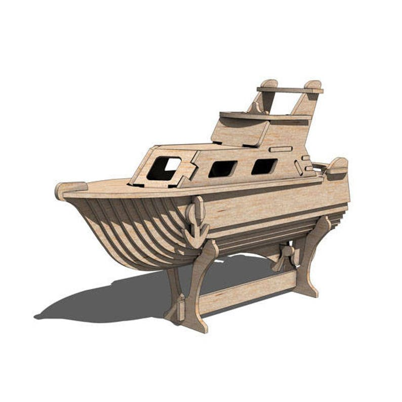 Miami Spice Pleasure Boat 3D wooden puzzle/model