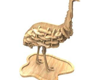 Emu 3D wooden puzzle/model