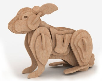 The Rabbit 3D wooden puzzle/model