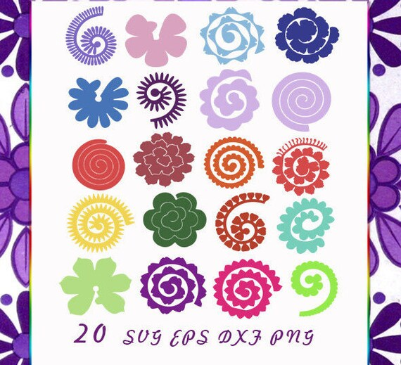 Rolled paper flowers 20 svg pdf file included cutting files rolled paper flowers 20 svg pdf file included cutting files flowers origami rolled paper flowersorigami svg diy flower decor from yourdesignsstudio mightylinksfo