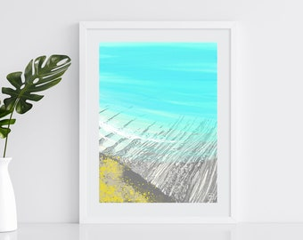 South West Coast Path - Giclée Fine Art Print of a Digital Painting - 21x30cm - A4 Unframed