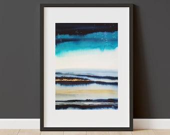 Valley Mist - Original Ink Painting - 30x45cm - Unframed