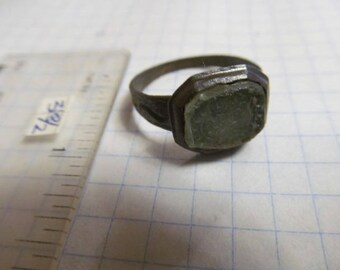 Ancient bronze ring with pseudo heraldry of the 18th century
